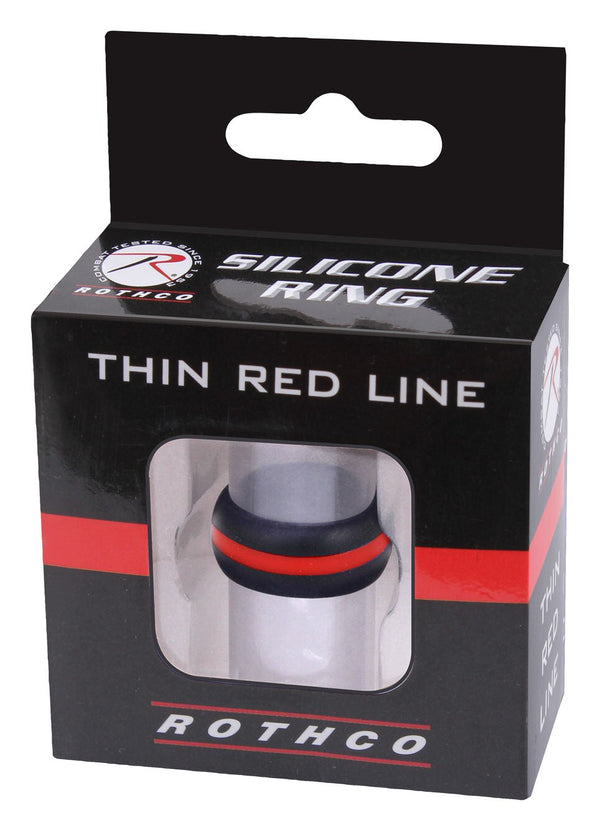Rothco Thin Red Line Silicone Ring - packaging