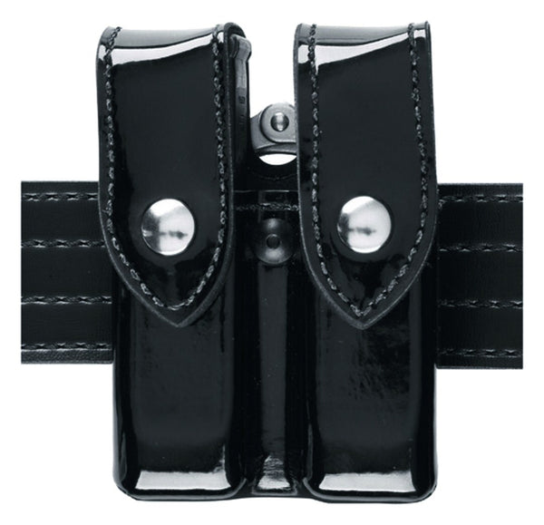 Safariland Model 72 Magazine & Cuff Top Flap Pouch, Hi Gloss, Black