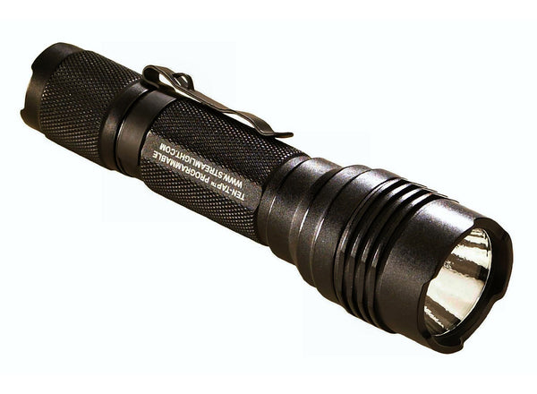 Streamlight ProTac HL with white LED, Two 3V CR123A lithium batteries (included), Black