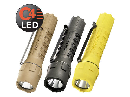 Streamlight PolyTac LED with lithium batteries. Blister Packaged.  Black