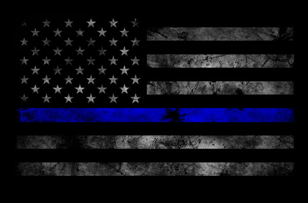 BAO Tactical Thin Blue Line Subdued American Flag Sticker