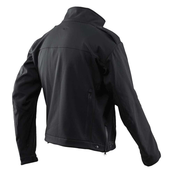 Tru-Spec 24-7 Series LE Softshell Short Jacket, Polyester w/ DWR Water Repellant Finish, Black