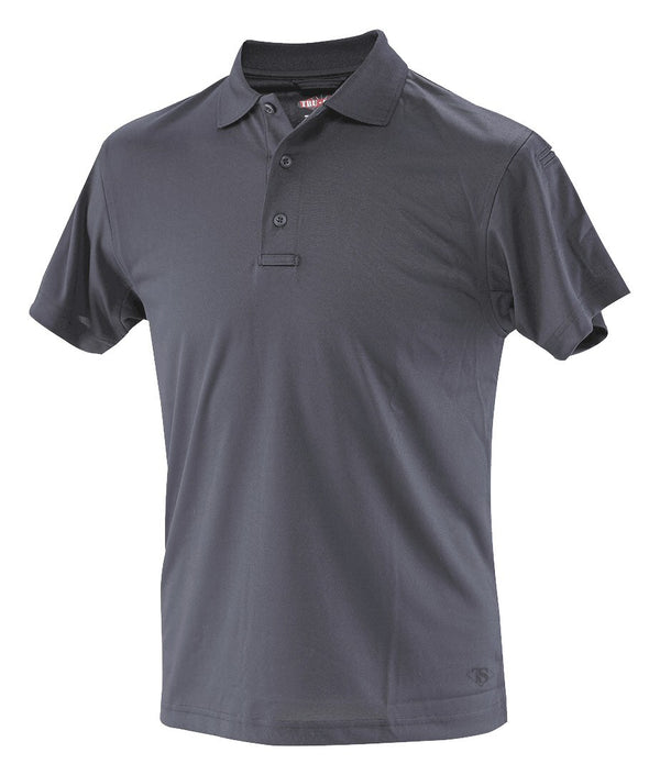 Tru-Spec Men's White/Navy 24-7 Series Short Sleeve Performance Polo - navy