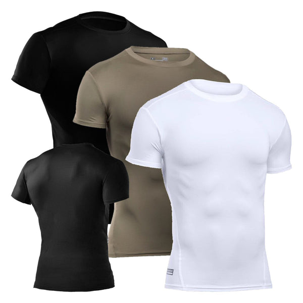 UA Tactical HeatGear Compression T-Shirt, all variants shown