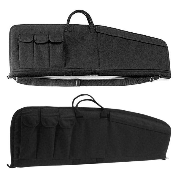 "Uncle Mike's 33"" Rifle Case, Black (Three Magazine Pouches Attached)"