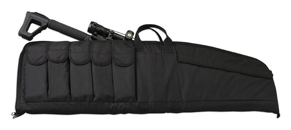 "Uncle Mike's 41"" Rifle Case, Black (Five Magazine Pouches Attached)"