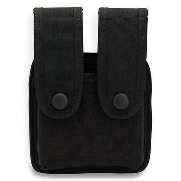 Uncle Mike's Double Stack Pistol Mag Kodra Case w/ Snaps, Black