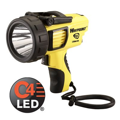 Streamlight Waypoint Rechargeable Flashlight 120V AC - yellow