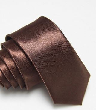 Brown Slim Tie