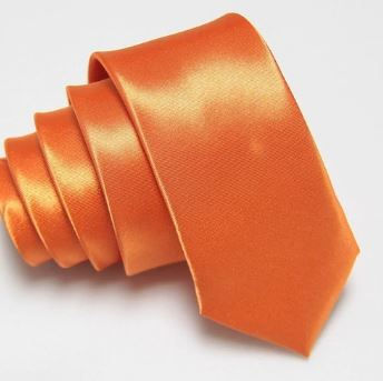 Orange Slim Tie