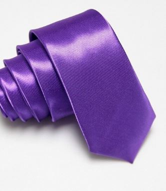 Purple Slim Tie