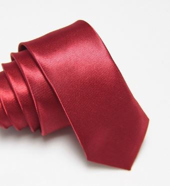 Red Wine Slim Tie