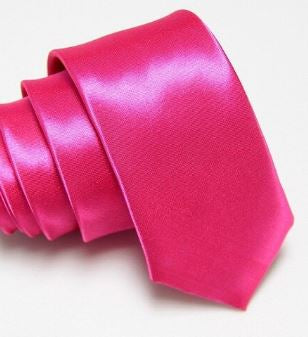 Rose Red Slim Tie