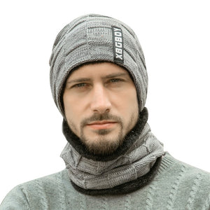 Men's Beanie Hat and Scraf Set
