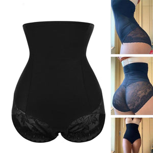 Women's High Waist Satin Body Shaper with Slimming Tummy Control and Butt Lift Underwear