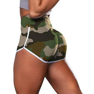 Women's Camouflage Print Workout Shorts