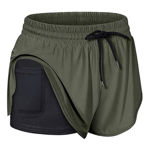 Women's Quick-Dry Running Shorts with Phone Pocket