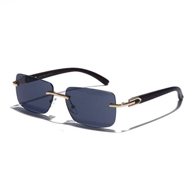 Rimless Rectangle Anti-Reflective Sunglasses