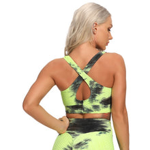 Load image into Gallery viewer, Women's Tie Dye Sports Crop Top