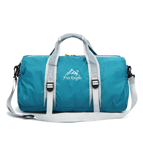 Double-Sided Foldable Waterproof Gym Bag with Shoulder Strap