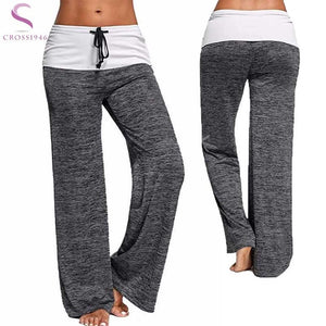 Women Full Length Yoga Pants with Elastic Waist