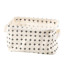 Load image into Gallery viewer, Cotton Linen Storage Basket Makeup Organizer