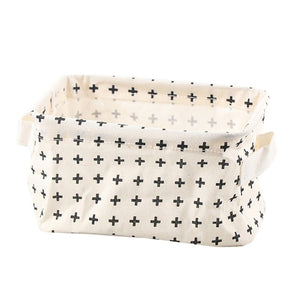 Cotton Linen Storage Basket Makeup Organizer
