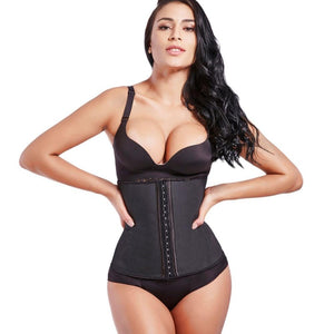 Belt Body Shaper - Steel Boned Shapewear Corset and Latex Waist Trainer For Women