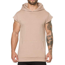 Load image into Gallery viewer, Men's Hooded Workout Short Sleeve Workout Vest