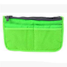 Load image into Gallery viewer, Dual Zipper Cosmetic Organizer Makeup Bag - Toiletry Travel Kits
