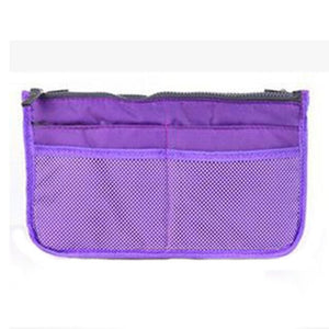 Dual Zipper Cosmetic Organizer Makeup Bag - Toiletry Travel Kits