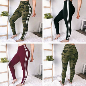 Women's Side Ribbon Strap Elastic Leggings