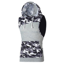 Load image into Gallery viewer, Men's Camouflage Sleeveless Hoodie Vest - Tank Top