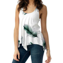 Load image into Gallery viewer, Women's Sleeveless Top Feather Print Tank Top