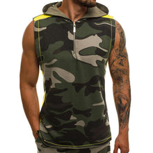 Load image into Gallery viewer, Men's Sleeveless Camouflage Hooded Vest