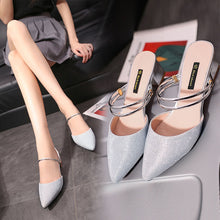 Load image into Gallery viewer, YahzaKeke-Silver Affordable Heels, Boots and Sneakers