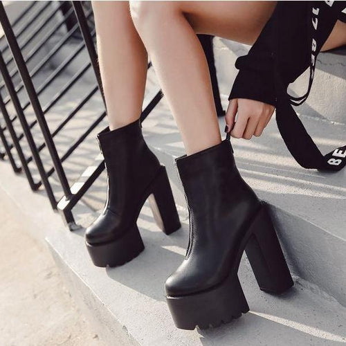 YahzaRockstar-Black Affordable Heels, Boots and Sneakers