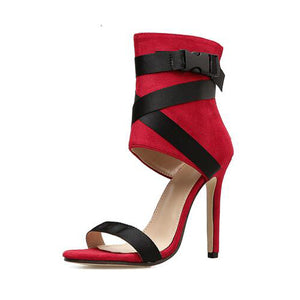 YahzaNikki-Red Affordable Heels, Boots and Sneakers