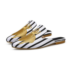 YahzaRoyal Flats-Striped Affordable Heels, Boots and Sneakers