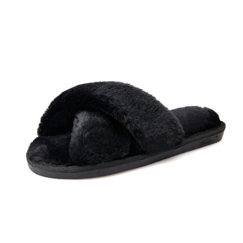 YahzaFurry Furry Cozzy- Black Affordable Heels, Boots and Sneakers