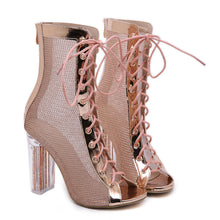 Load image into Gallery viewer, YahzaMy Toes On Fleek-Pink Affordable Heels, Boots and Sneakers
