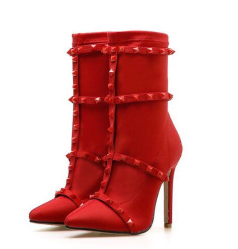 YahzaMama Claus- Red Affordable Heels, Boots and Sneakers
