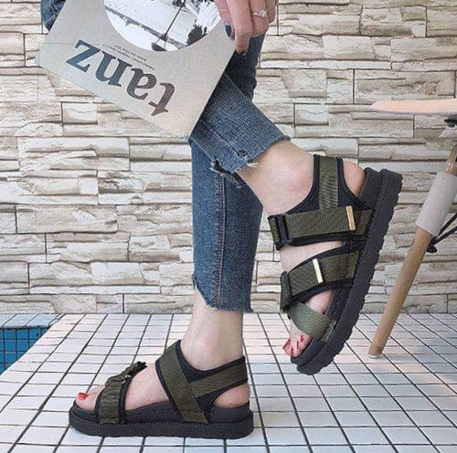 YahzaSandals-Green Affordable Heels, Boots and Sneakers