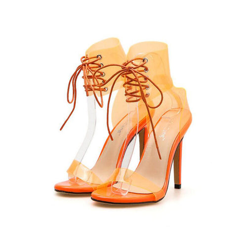YahzaLaced up Pumps-Orange Affordable Heels, Boots and Sneakers