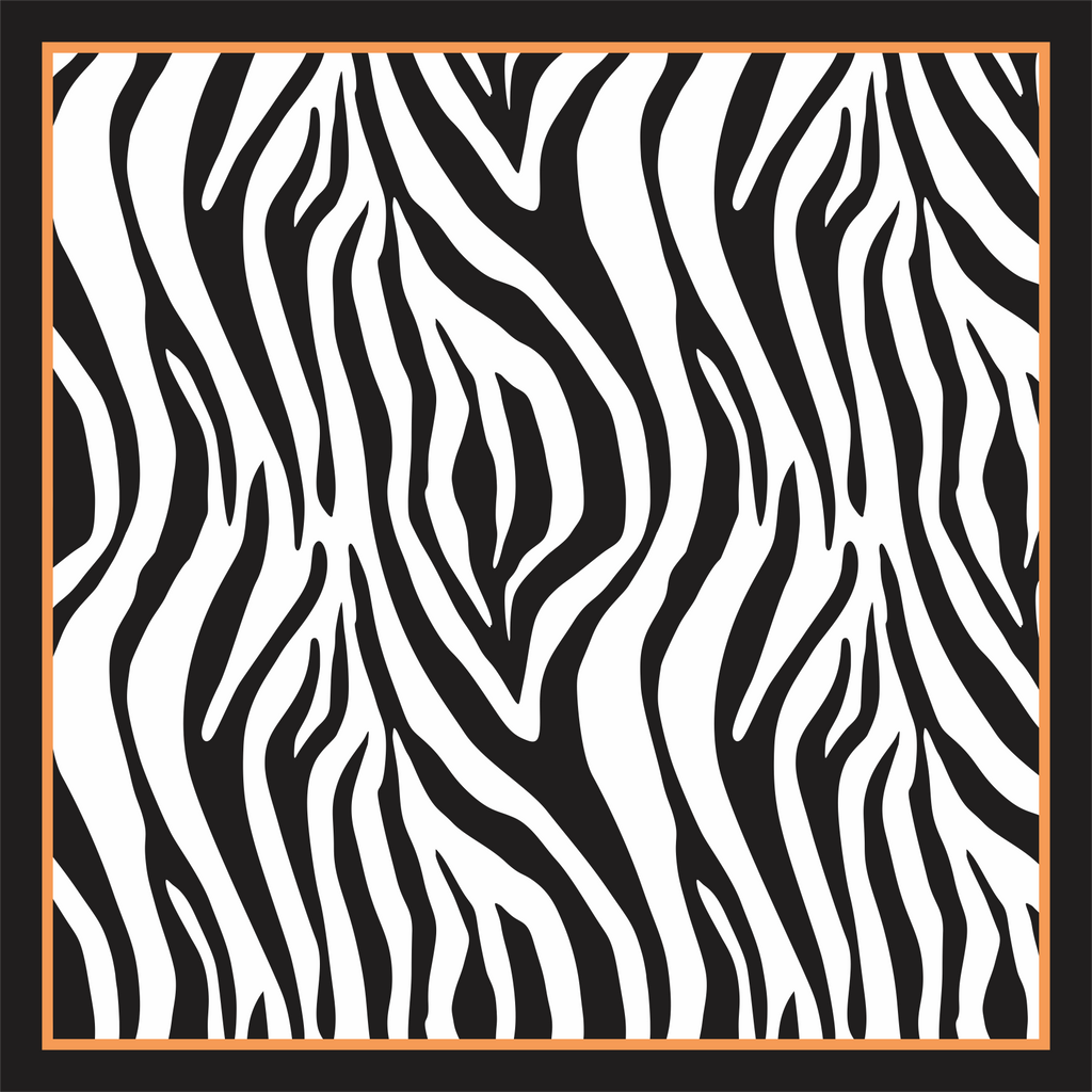 Pareo Zebra with Orange detail