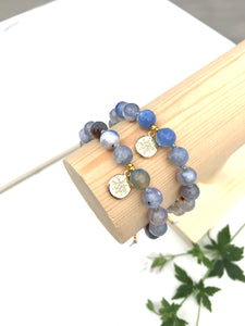 Cornflower - Agate Blue Gold Plated Star Bracelet
