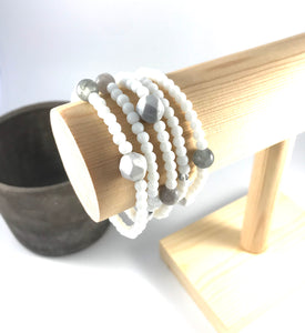Howlite White Stacking Bracelet