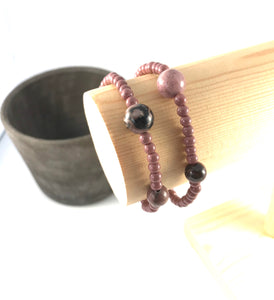 Rhodonite Stacking Bracelet