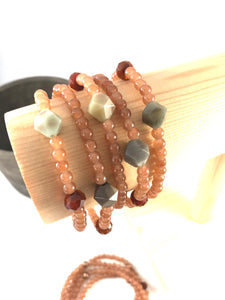 Amazonite Stacking Bracelet in Soft Ginger