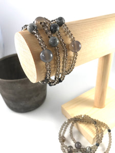 Calm Stacking Bracelet - Grey Agate Stacking Bracelet